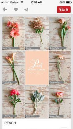 Peach flowers wedding