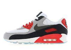 "Nike Air Max 90 ""London"" - ""White/Dark Grey/Wolf Grey"""