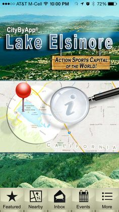 """The new Lake Elsinore California mobile app. Search """"citybyapp"""" or """"Elsinore"""" in the App Store or Google Play Store. It's free!"""