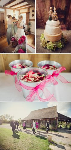 A Raspberry Red And Apple Green Wedding.