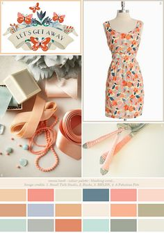 colour palette : blushing coral... by emma lamb, via Flickr