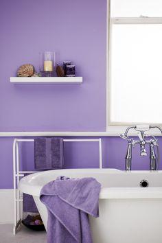 Bathroom purple pink on pinterest purple bathrooms for Mauve bathroom ideas