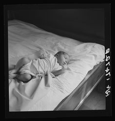 A well pinned diaper doesn't look to be the priority of mothers in the past.  1937, Mississippi.