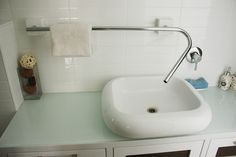 Faucet towel rack