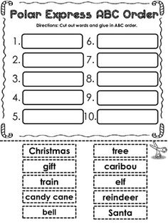 POLAR EXPRESS MATH AND LITERACY (40 PAGES OF CCSS ALIGNED PRINT  GO ACTIVITIES) - TeachersPayTeachers.com