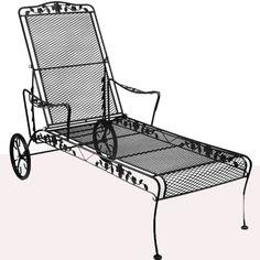 Meadowcraft Dogwood chaise lounge