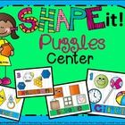 **update 9/4/14-recording sheet revised** Shape it Puzzles Center includes: *9 Colorful Shape Puzzles-circle, square, hexagon, octagon, trapezoid, ...