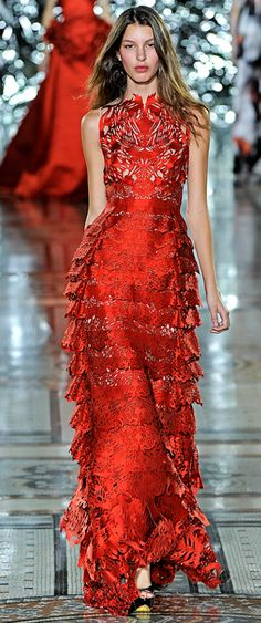 Lady in RED...Giles red evening gown