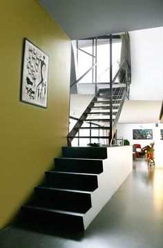 House Concept Ideas with Green Garden: Creative Integration Of Modern Minimalist And Industrial Rendering Applied For Indoor Staircase Of Ma...