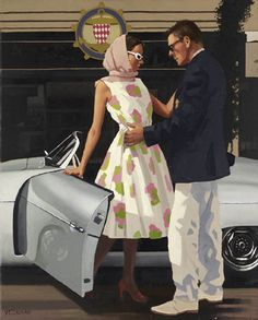 """Come Here"" by Jack Vettriano, Scottish painter, born 1951."