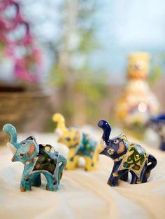 Blue pottery ceramic elephants blue potteri