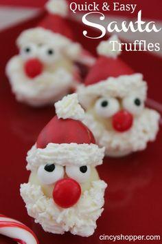 Quick & Easy Santa Truffles (Using Lindt Truffles)