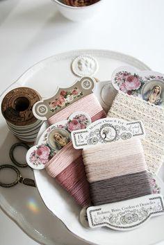 decorative thread cards