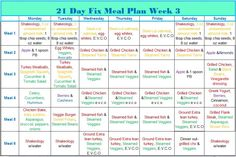 21 Day Fix Week 3 Meal Plan