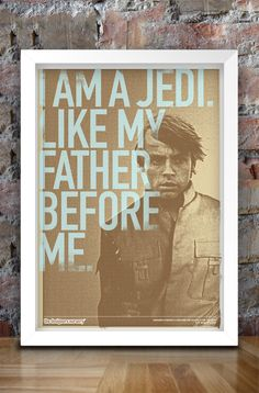 Star Wars Inspired Print (Heroes Series: LUKE SKYWALKER) A3. $30.00, via Etsy.