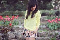 Pretty floral shorts! :)
