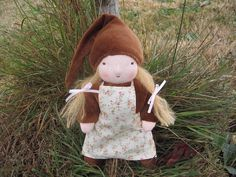 Cute Gnome Doll, dressed for fall.  #Etsy #waldorf #natural #Doll #Gnome