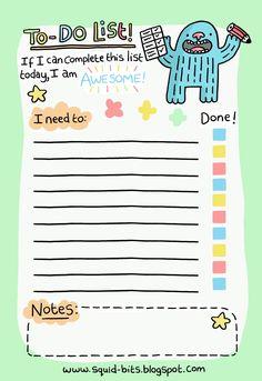 Cute to-do list printable