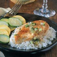 Chicken with Green Onion Sauce Recipe