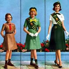 Brownie and Girl Scout Uniforms from the  60's.