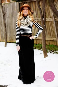 black belted maxi long skirt