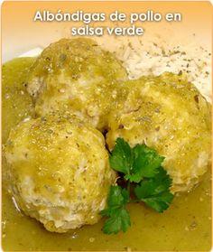 albondigas de pollo en salsa verde