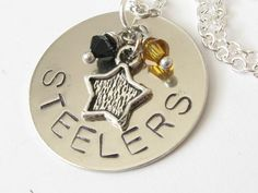 Sports Team Handstamped Necklace  School Colors by DistinctlyIvy
