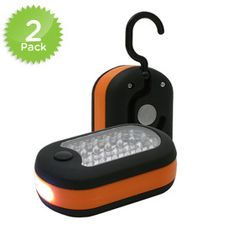 2-Pack Super Bright 27 LED Worklight And Flashlight