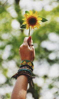 Sunflower child.