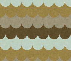 waves_aqua_linen_ fabric by holli_zollinger on Spoonflower - custom fabric