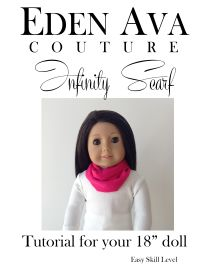FREE Infinity Scarf tutorial! doll cloth, girl doll, infinity scarfs, ag shoe, ag doll, doll shoes, 01 infin, infin scarf, american girls