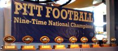 The University of Pittsburgh Panthers nine National Championships: 1915, 1916, 1918, 1929, 1931, 1934, 1936, 1937, and 1976.