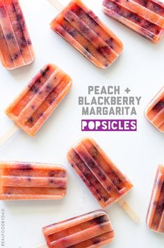 Peach and Blackberry Margarita Popsicles by Real Food by Dad