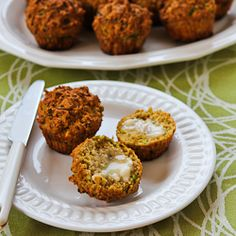 Savory Whole Wheat Zucchini Muffins with Feta, Parmesan, and Green Onions (plus 25 more fun ideas for baking with zucchini!)