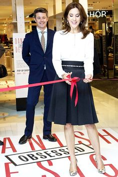 """The Crown Prince Couple opens the """"Danish Fashion and Food Week"""" in Hudson Bay:"""