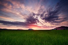 Sunset On Chuckanut Dr. - Skagit County, Washington