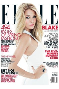 Blake Lively on the cover of Elle Magazine.