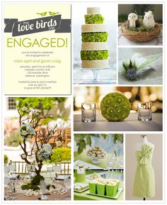 Love birds engagement theme - a lovely afternoon tea?
