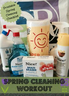 Get Ready for Spring with My Spring Cleaning Workout #DRSpringTime #Exercise #Printable #Checklist #shop