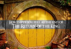 I much prefer going to Middle-earth than leaving it. And when you do leave, it's all too sudden.