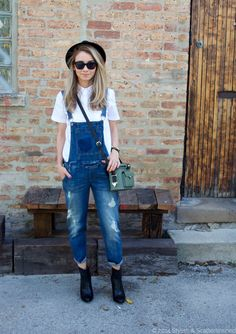 Fall Fashion   Distressed overalls   Frye booties c/o @marshalls #fabfound #projectfab