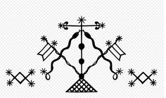 Damballah, the Haitian Vodou sky god, composed to two snakes.