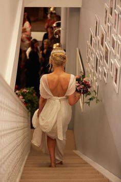 floaty, low back wedding dress perfection