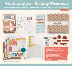 Everyday Occasions Card Kit by Stampin' Up! Order Online: essentials.stampinup.net