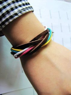 Soft Leathers  Ropes Woven Men Women Cuff by accessory365 on Etsy, $2.50