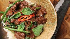 Thai Beef and Basil Stirfry - Thai Recipes