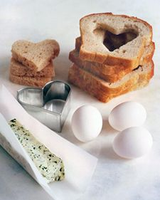 A heart-shaped egg in the hole makes a great Mother's Day breakfast.