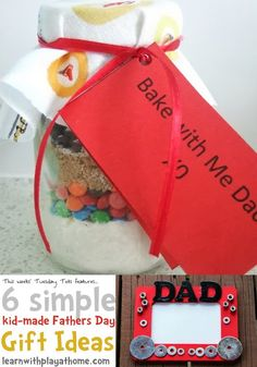 Learn with Play at home: 6 Simple Kid Made Fathers Day Gift ideas
