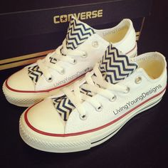 Chevron Custom Converse #shoes #sneakers #converse #custom #chevron #navy #christmas #gift $85