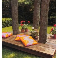 Deck among trees - would look great in front yard or at places around the ranch.